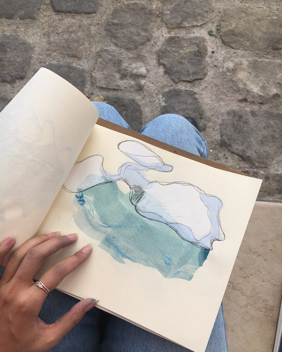 drawing on the seine
