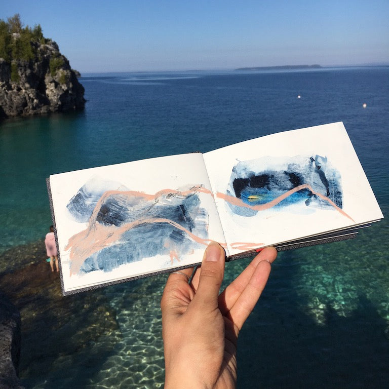 sketchbook at the grotto