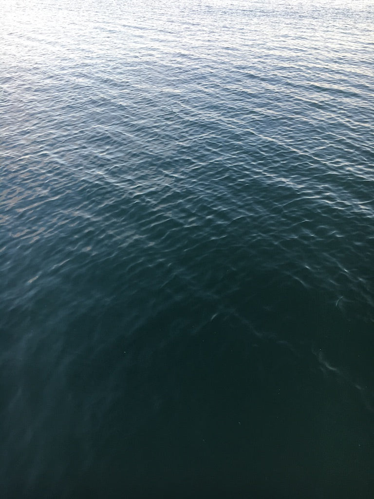 blue water with ripples