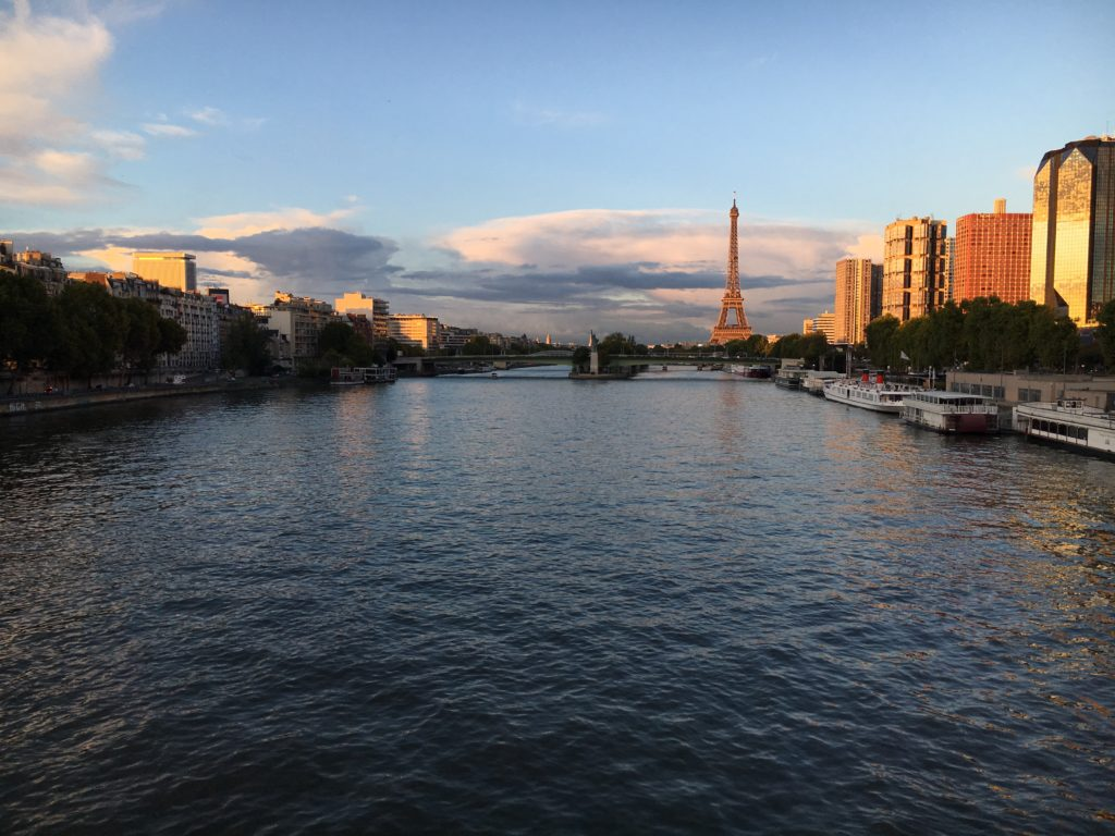 the seine with the Eiffel tower in view
