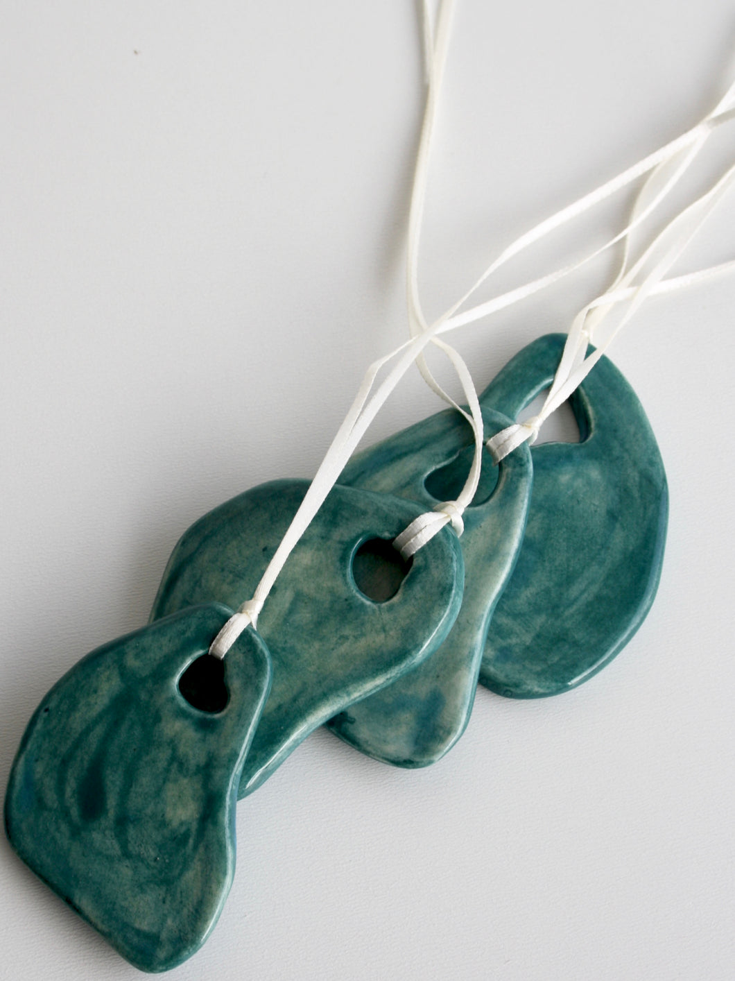 Abstract Shape Ceramic Ornament (Emerald)