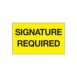 No Signature Required