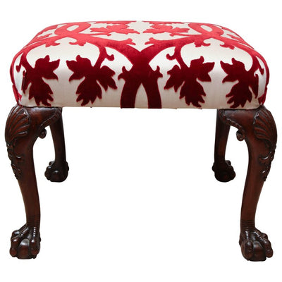 Georgian Mahogany Ball and Claw Foot Stool