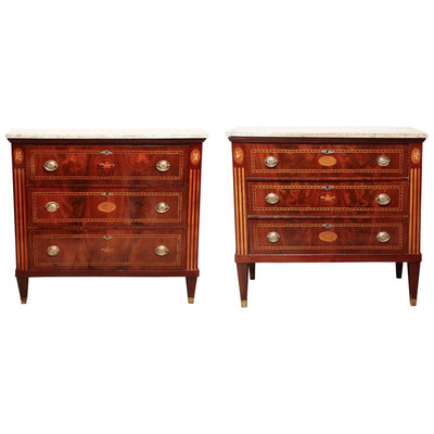 Pair of Dutch Neoclassic Commodes