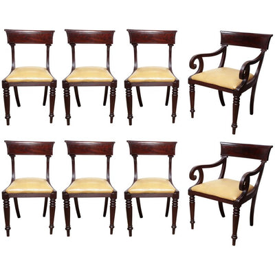 Set of Eight American Dining Chairs
