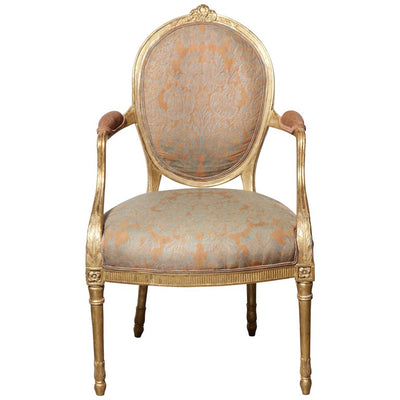 Pair of George III Giltwood Armchairs