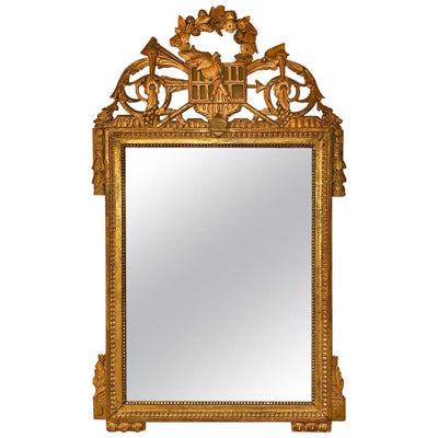 Louis XVI Carved Gilt Mirror