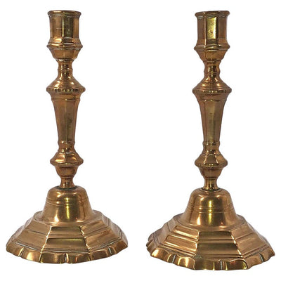 Pair of French Louis XIV Bronze Candlesticks