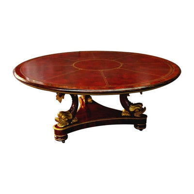 Regency Style Leather Top Center Table