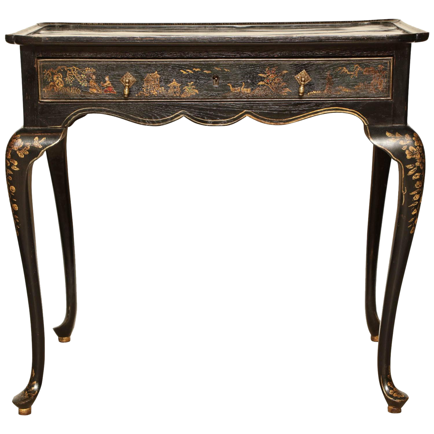 Queen Anne Lacquered Tea Table georgenantiques