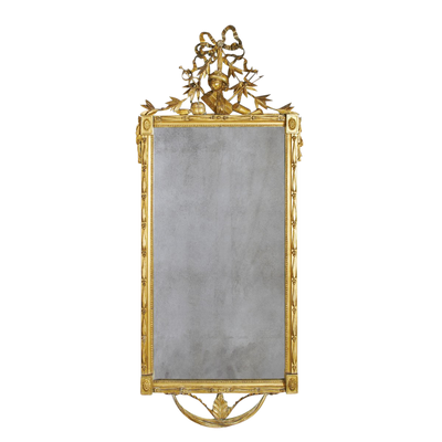 Louis XVI Carved Gilt Wood Mirror