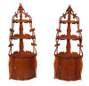 Pair of Mahogany Corner Shelves