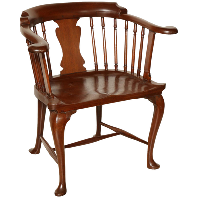 Rare Mahogany Captain's Chair