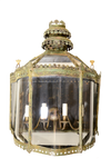 Unusual Verdigris Wall Lantern