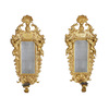 Pair of Italian Baroque Gilt Wood Sconce Mirrors