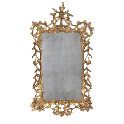 Chippendale Gilt Wood Mirror