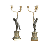 Pair of Louis XVI Bronze Figural Candleabra