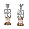 Pair of Regency Ormolu Mounted Cut Glass Candlesticks