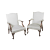 Chippendale Mahogany Carved Gainsborough Armchairs