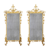 Pair of Italian Louis XVI Carved Gilt Wood Mirrors