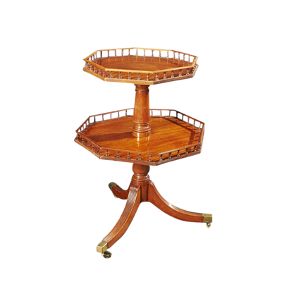 Regency Two Tier Mahogany Dumbwaiter