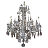 French Silvered 8-Light Chandelier