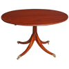 Regency Mahogany Circular Center or Dining Table