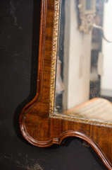 George II Mahogany Mirror with Fret Panel