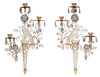 Pair of Bagues Parrot Sconces