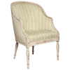Hepplewhite Painted Bergere