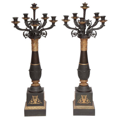 Pair of French Tall Candelabra