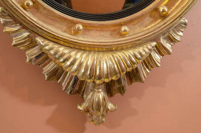 A Regency Convex Mirror with Eagle Crest