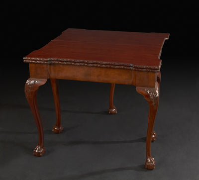 A Rare George II Mahogany Triple Top Games Table