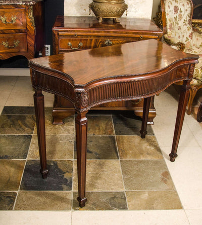 George III Mahogany Card Table