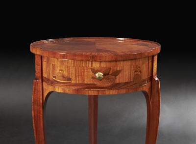 French Transitional Marquetry Round Table, Manner of Topino