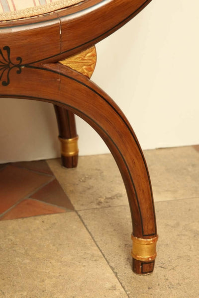 Regency Curule Form Window Bench