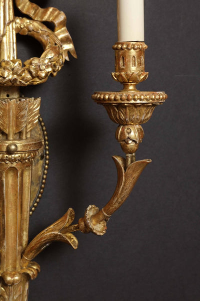 Fine Carved Giltwood Sconces