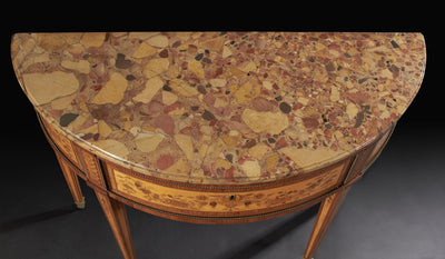Louis XVI Marquetry Console Table, by Charles Topino