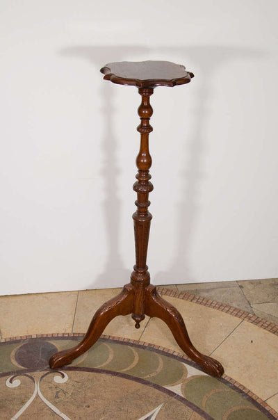 Pair of Continental Walnut Pedestals