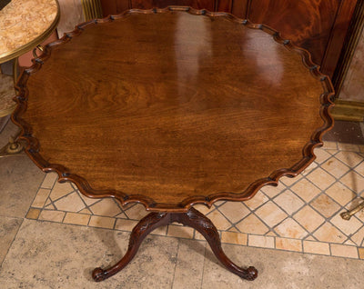 Large George II Carved Pie Crust Table