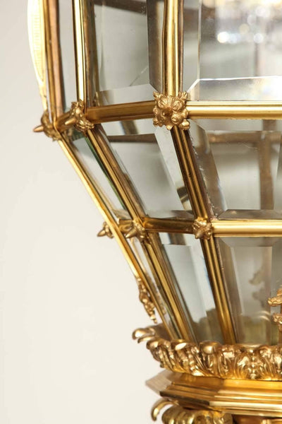 French Gilt Bronze Hall Lantern