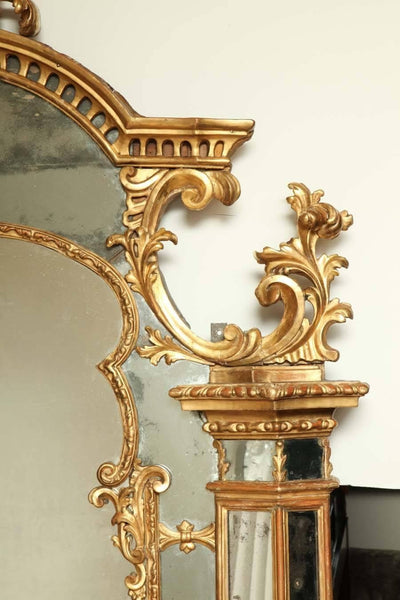 Fine Large French Carved Gilt Mirror