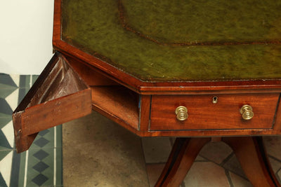 Regency Octagonal Mahogany Drum Table