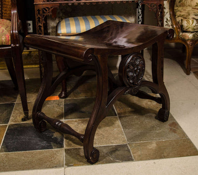 Chippendale Style Saddle Seat Stool
