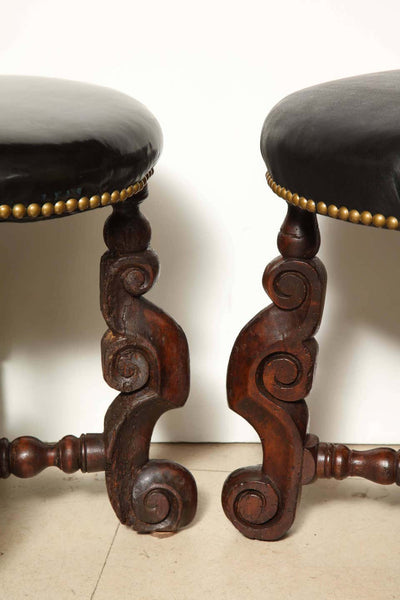 Pair of Early English Stools
