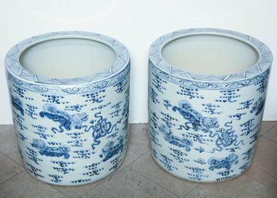Pair of Chinese Export Porcelain Fish Bowls