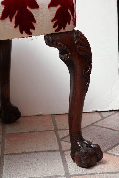 Fine Georgian Mahogany Ball and Claw Foot Stool