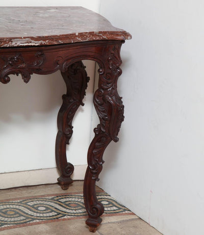 Regence Carved Marble-Top Console