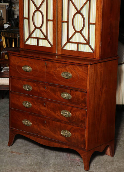 George III Mahogany Secretary Desk
