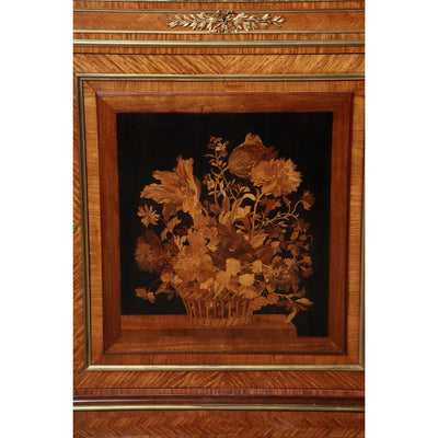 Pair of Louis XVI Marquetry Cabinets, Stamped 'Grohe""